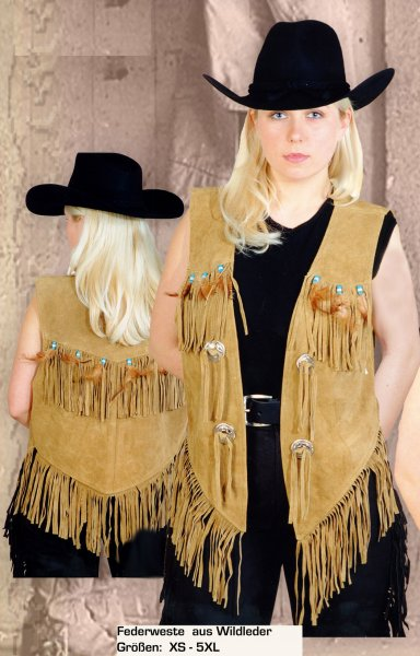 Feather Vest W 28733