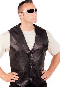 Smooth Leather Vest W 30735