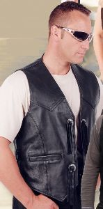 Biker Vest Smooth Leather W 30734