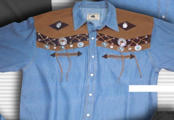 Shirt Billy blue Wulf HE 36305