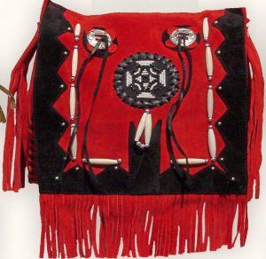Wildledertasche TA 16635 rot