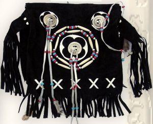 Wildledertasche TA 16634 schwarz