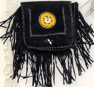 Wildledertasche TA 16639 schwarz