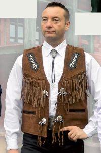 Wild leather vest W 26703