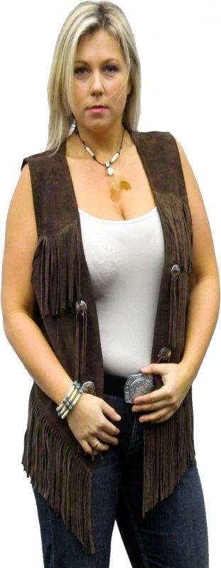 Fringe Vest brown W 26811