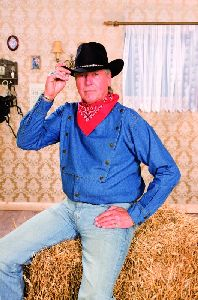 Westernhemd John Wayne blau (G)