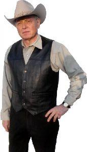 Leather Vest W 28555