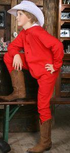 Kinder-Unterwäsche Long John rot (G)