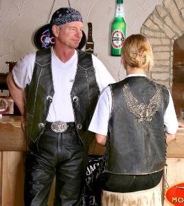 Antiklederweste Rider (G)