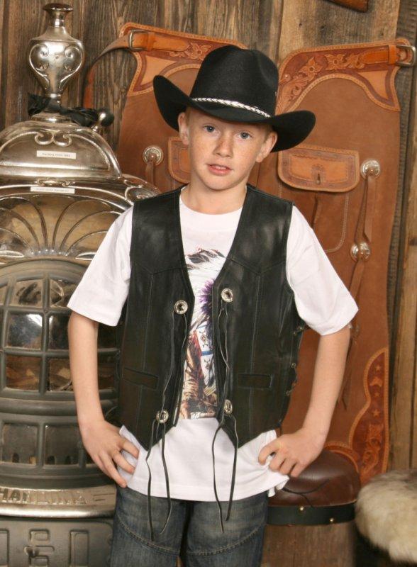 Kinder Lederweste Billy The Kid (G)
