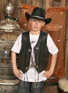 Kinder Lederweste Billy The Kid (G)