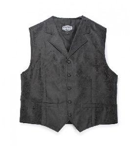 Old-Style Weste Paisley (G) schwarz