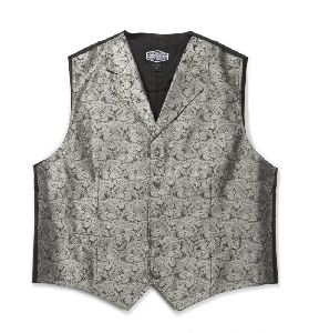 Old-Style Weste Paisley (G) silber