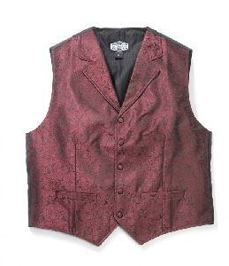 Old-Style Weste Paisley (G) rot