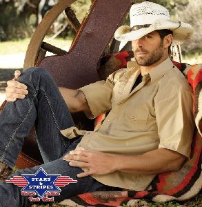 Westernhemd Chris beige