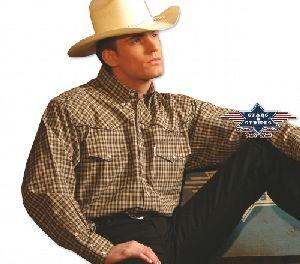 Westernhemd Pete braun