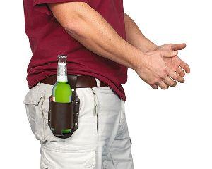 Bier Holster Klassik in braun