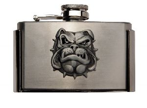 Gürtelschnalle mit Flachmann Flask Bulldog (G)