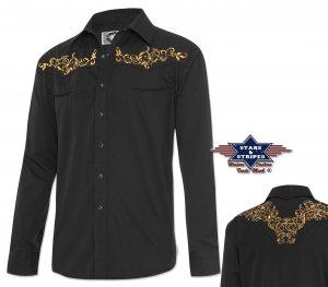 Westernhemd Durango schwarz