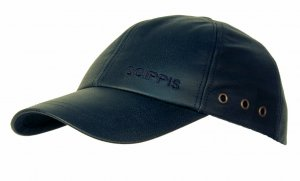 SCIPPIS Ledercap schwarz