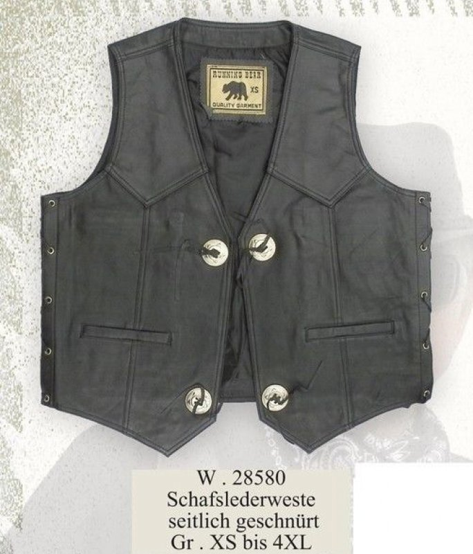 Leather Vest W 28580