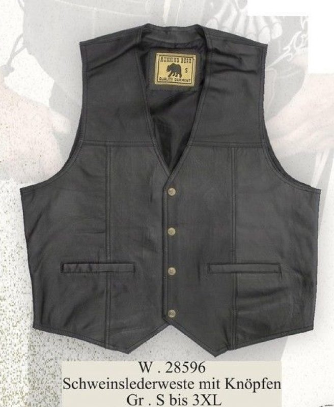 Leather Vest W 28596