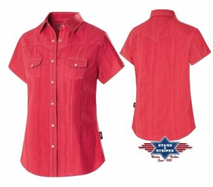 Western Blouse Malina red